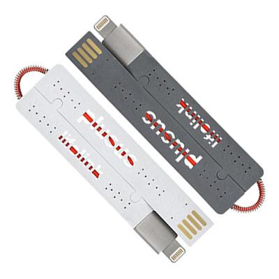 薄さ2mm、重さ7gの携帯用Lightningケーブル『LIFE LINK』