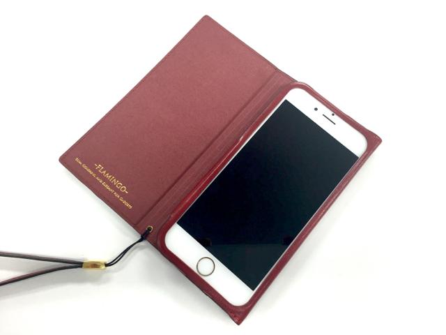 FLAMINGO PUレザー手帳型ケース