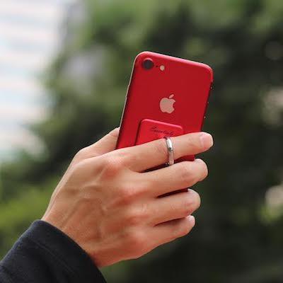 赤いiPhone 7/7 Plus(PRODUCT)REDレッドと絶妙にマッチする落下防止リング「Bunker Ring Essentials(バンカーリングエッセンシャル) レッド」が美しすぎる