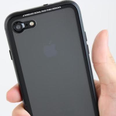 iPhone7 ジェットブラック専用の背面を美しく魅せるケース