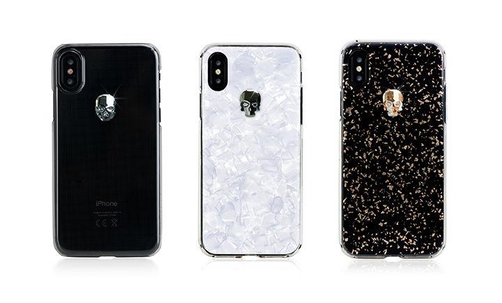 d15979a20a iPhone XS】スワロフスキークリスタルで作られたスカルが光るiPhone ...