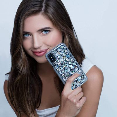 【iPhone XS/XS Max/XR】煌びやか!本物の真珠貝と銀箔を散りばめたラグジュアリーiPhoneケース「Case-Mate Karat-Pearl」