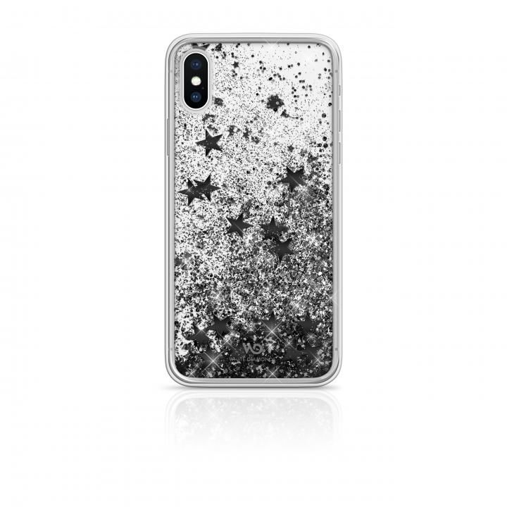 iPhone XS/X ケース White Diamonds Sperkle Case 背面ケース Black Stars iPhone XS/X_0