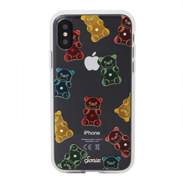 iPhone XS/X ケース Sonix EMBELLISHED CRYSTAL RHINESTONE 背面ケース GUMMY BEAR iPhone XS/X【9月上旬】_0