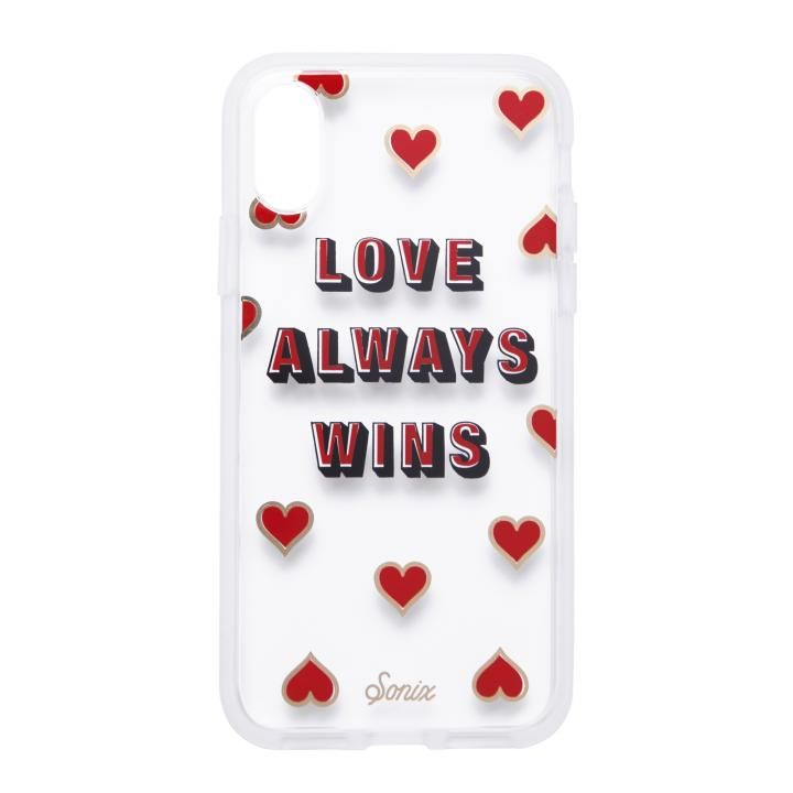 iPhone XS/X ケース Sonix CLEAR COAT 背面ケース LOVE WINS iPhone XS/X【2月上旬】_0