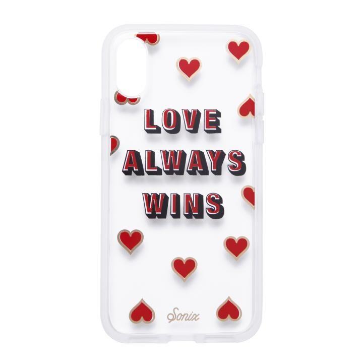 iPhone XS/X ケース Sonix CLEAR COAT 背面ケース LOVE WINS iPhone XS/X_0