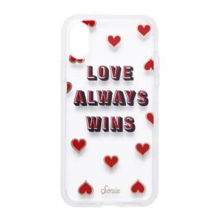 iPhone XS/X ケース Sonix CLEAR COAT 背面ケース LOVE WINS iPhone XS/X【7月中旬】