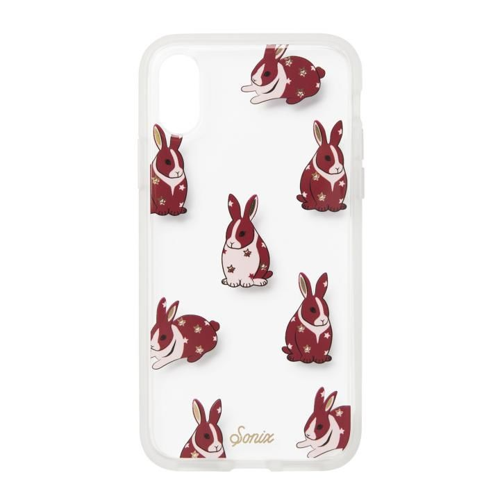 iPhone XS/X ケース Sonix CLEAR COAT 背面ケース CHUBBY BUNNY iPhone XS/X【7月中旬】_0