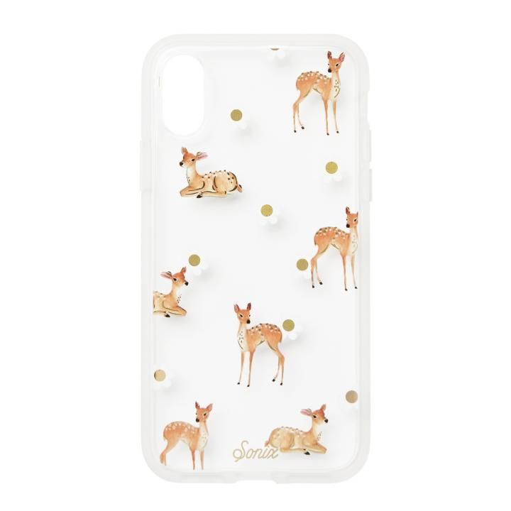 iPhone XS/X ケース Sonix CLEAR COAT 背面ケース BAMBI iPhone XS/X【9月上旬】_0
