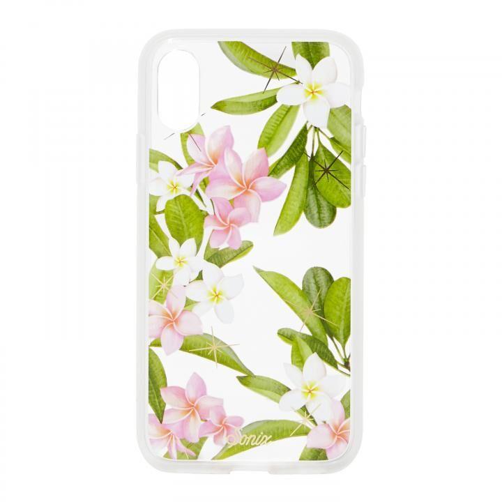iPhone XR ケース Sonix CLEAR COAT 背面ケース PLUMERIA iPhone XR【6月下旬】_0