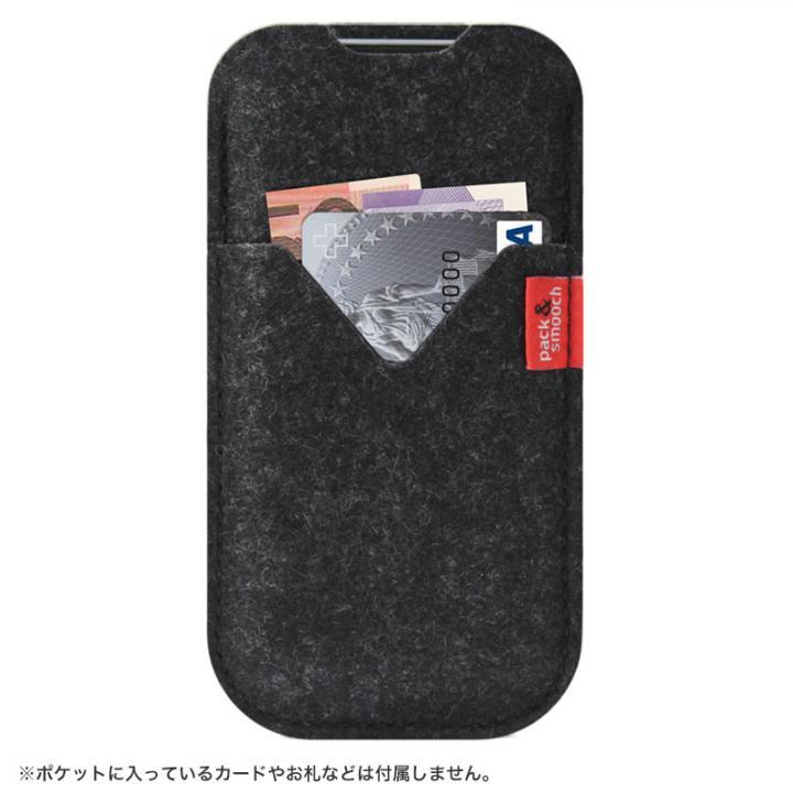 【iPhone6s/6ケース】ウールフェルト製スリーブポケットケース ブラック iPhone 6s/6_0