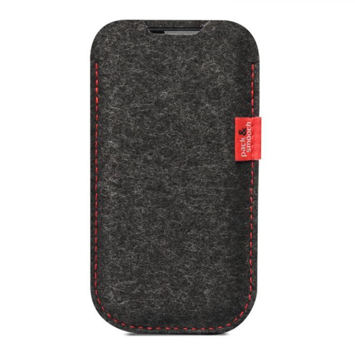 【iPhone6s/6ケース】ウールフェルト製スリーブケース ブラック iPhone 6s/6_0