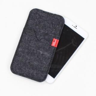 【iPhone6s Plus/6 Plusケース】ウールフェルト製スリーブポケットケース ブラック iPhone 6s Plus/6 Plus_1