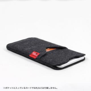 【iPhone6s Plus/6 Plusケース】ウールフェルト製スリーブポケットケース ブラック iPhone 6s Plus/6 Plus_2