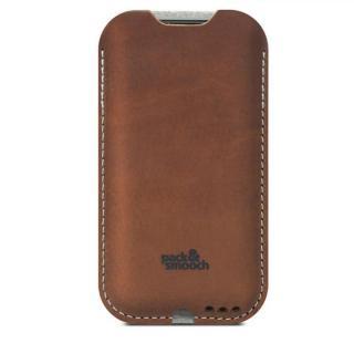 ウールフェルト/牛革製スリーブケース ライトブラウン iPhone 6s/6