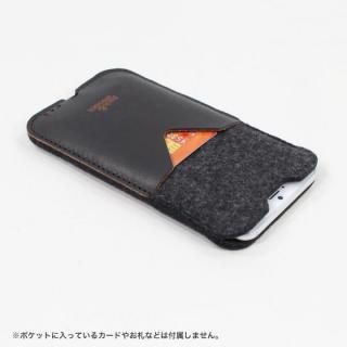 【iPhone6s Plus/6 Plusケース】ウールフェルト/牛革製スリーブポケットケース ダークブラウン iPhone 6s Plus/6 Plus_1
