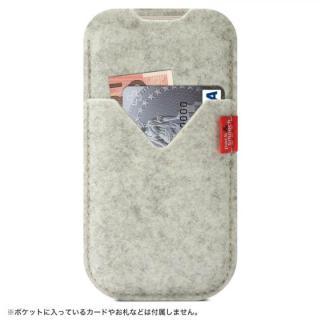ウールフェルト製スリーブポケットケース ホワイト iPhone 6s Plus/6 Plus