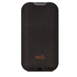 ウールフェルト/牛革製スリーブケース ダークブラウン iPhone 6s Plus/6 Plus