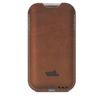 ウールフェルト/牛革製スリーブケース ライトブラウン iPhone 6s Plus/6 Plus