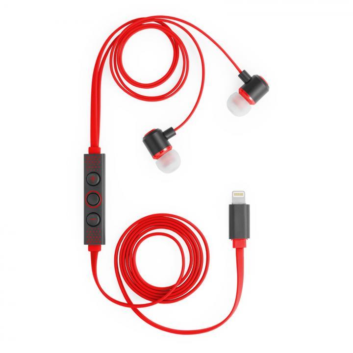 [新iPhone記念特価]ハイレゾ対応 Lightning接続イヤホン IC-Earphone レッド