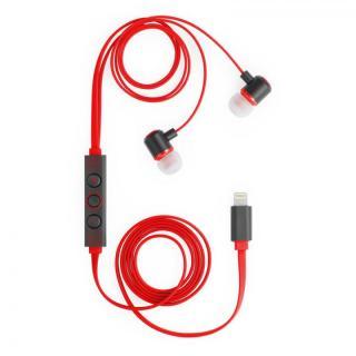 [新iPhone記念特価]ハイレゾ対応 Lightning接続イヤホン IC-Earphone レッド【9月下旬】