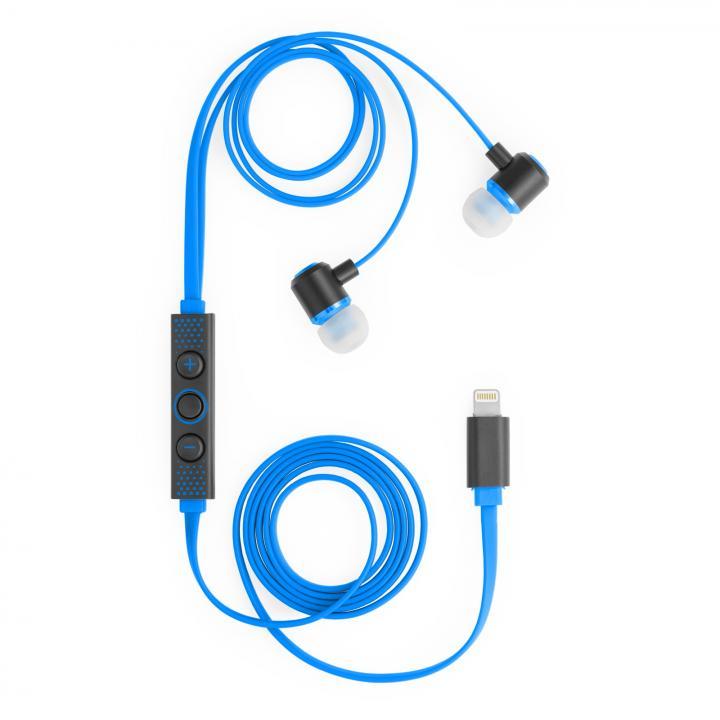 [マシュマロファイト記念特価]ハイレゾ対応 Lightning接続イヤホン IC-Earphone ブルー