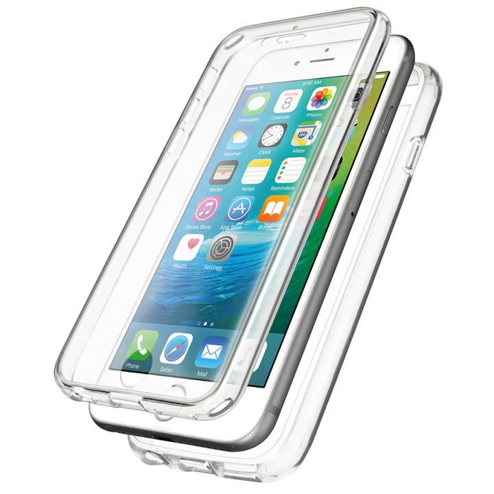 【iPhone6s/6ケース】360度 フルカバー スリムハイブリッドケース クリア iPhone 6s/6_0