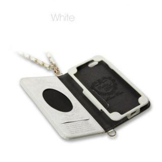【iPhone6ケース】Heart Letter 手帳型PUレザーケース ホワイト/ホワイト iPhone 6_1