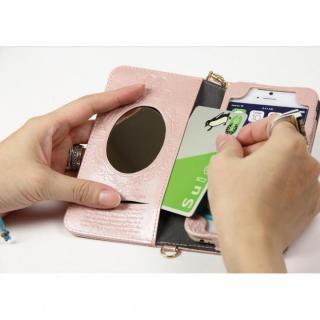 【iPhone6ケース】Heart Letter 手帳型PUレザーケース パステルピンク/ホワイト iPhone 6_3