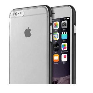 REAL SHIELD 合金バンパー/TPUケース メタルブラック iPhone 6s/6
