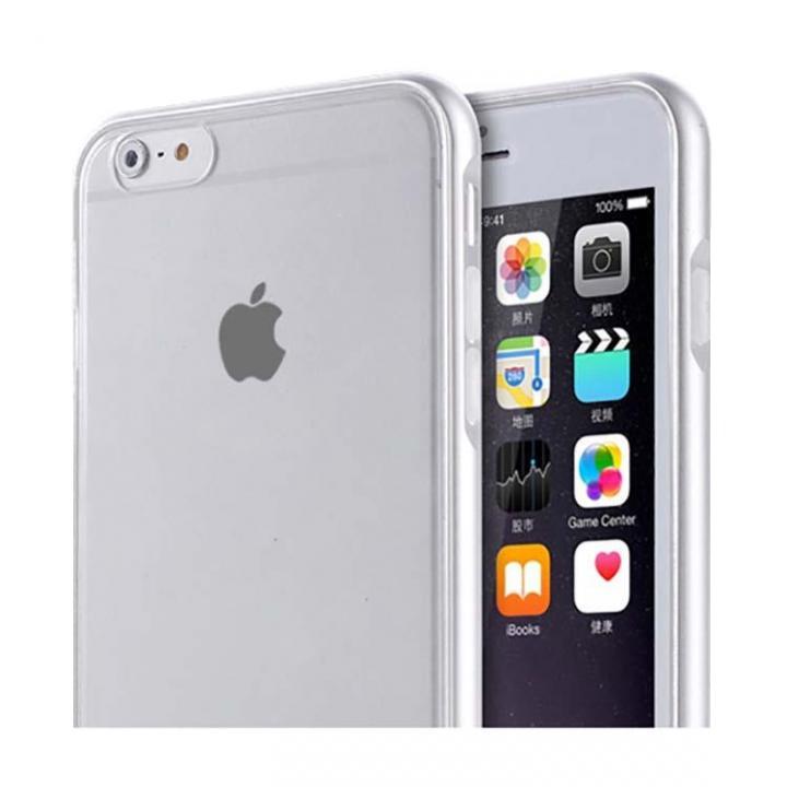 REAL SHIELD 合金バンパー/TPUケース メタルシルバー iPhone 6s/6