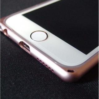 REAL SHIELD 合金バンパー/TPUケース メタルローズゴールド iPhone 6s/6