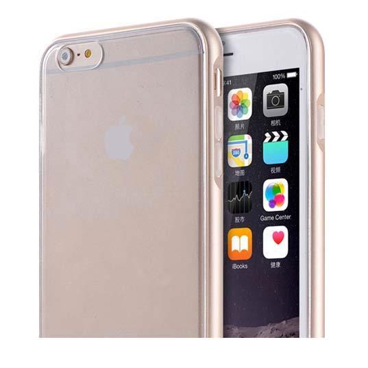 REAL SHIELD 合金バンパー/TPUケース メタルゴールド iPhone 6s Plus/6 Plus