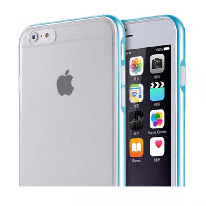 iPhone6s/6 ケース REAL SHIELD 合金バンパー/TPUケース メタルブルー iPhone 6s/6_0