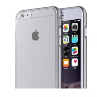 REAL SHIELD 合金バンパー/TPUケース メタルグレー iPhone 6s/6