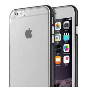 REAL SHIELD 合金バンパー/TPUケース メタルブラック iPhone 6s Plus/6 Plus