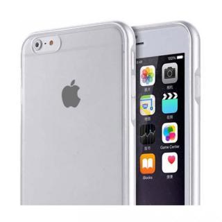 REAL SHIELD 合金バンパー/TPUケース メタルシルバー iPhone 6s Plus/6 Plus