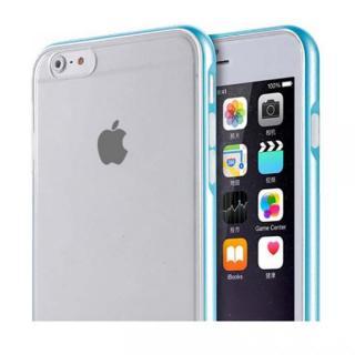 REAL SHIELD 合金バンパー/TPUケース メタルブルー iPhone 6s Plus/6 Plus