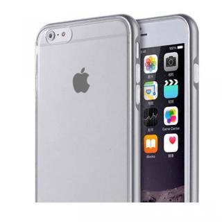 REAL SHIELD 合金バンパー/TPUケース メタルグレー iPhone 6s Plus/6 Plus