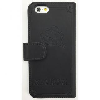 【iPhone6ケース】ピーナッツ 手帳型PUレザーケース ブラック iPhone 6 スヌーピー&ウッドストック_1