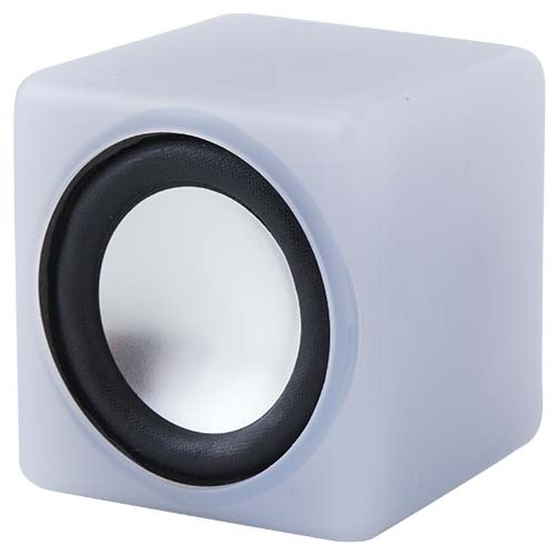音にシンクロして光る コンパクトスピーカー キュービックサウンド(ホワイト)