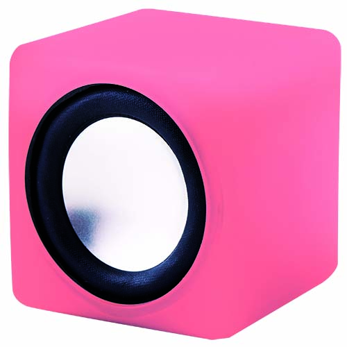 音にシンクロして光る コンパクトスピーカー キュービックサウンド