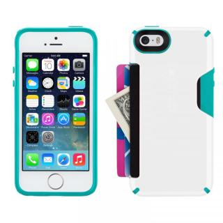 iPhone SE/5s/5 CandyShell Card- White/Caribbean Blue