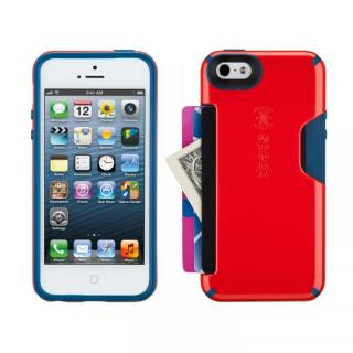 iPhone SE/5s/5 CandyShell Card- Poppy Red/Deep Sea Blue