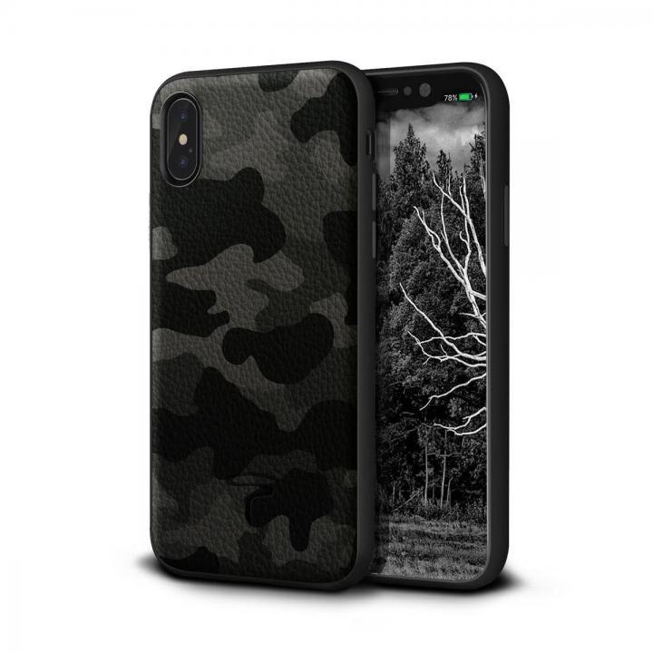 iPhone XS/X ケース Toria Design Camo 牛本革背面ケース アーバン iPhone XS/X_0