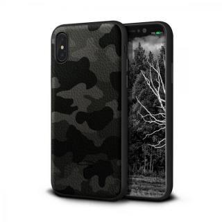 iPhone XS/X ケース Toria Design Camo 牛本革背面ケース アーバン iPhone XS/X