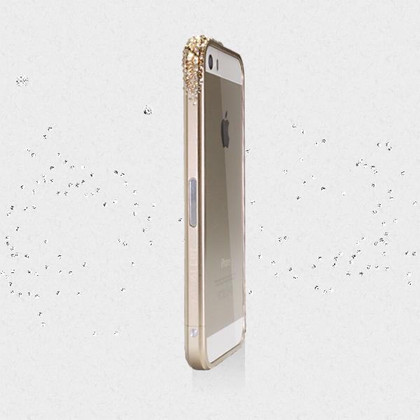 レッドアラートウィズスワロフスキー iPhone SE/5s/5 ゴールド