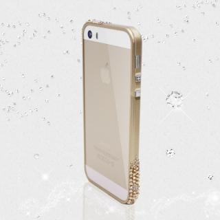 レッドアラートウィズスワロフスキー iPhone5s/5 ゴールド 送料無料