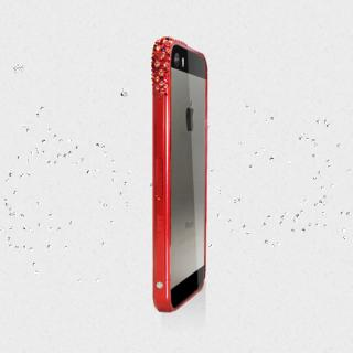 【在庫限り】レッドアラートウィズスワロフスキー iPhone5s/5 レッド 送料無料