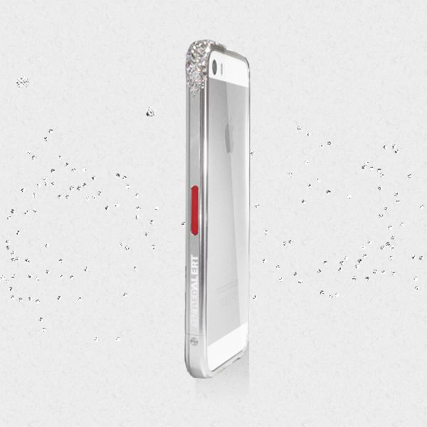 iPhone SE/5s/5 ケース レッドアラートウィズスワロフスキー iPhone SE/5s/5 シルバー_0
